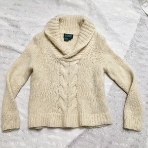 Ralph Lauren Hand knit Cable Sweater